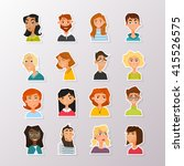 colorful vector people avatar... | Shutterstock .eps vector #415526575