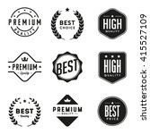 set of retro vintage badges and ... | Shutterstock .eps vector #415527109