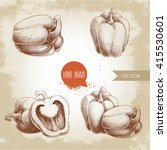 hand drawn illustration set of... | Shutterstock .eps vector #415530601