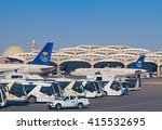 Small photo of Riyadh - March 01: Planes preparing for take off at Riyadh King Khalid Airport on March 01, 2016 in Riyadh, Saudi Arabia. Riyadh airport is home port for Saudi Arabian Airlines.