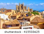 cityscape of palma de mallorca...   Shutterstock . vector #415533625