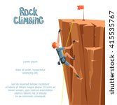rock climbing boy. isolated on... | Shutterstock .eps vector #415535767