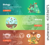 science of biology. natural... | Shutterstock .eps vector #415536571