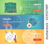 mathematical science. algebra.... | Shutterstock .eps vector #415537489