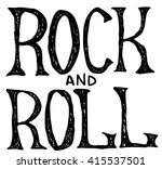 hand draw sketch rock and roll... | Shutterstock .eps vector #415537501
