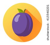 plum flat design isolated on a... | Shutterstock .eps vector #415540201