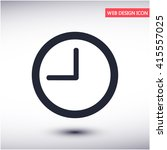 clock  time vector icon | Shutterstock .eps vector #415557025