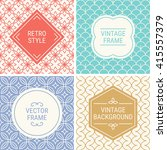 set of vintage frames in red ... | Shutterstock .eps vector #415557379