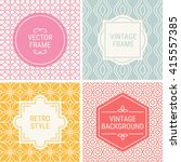 set of vintage frames in pink ... | Shutterstock .eps vector #415557385