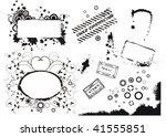 set of grunge vector elements   Shutterstock .eps vector #41555851