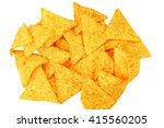 mexican nachos  tortilla chips... | Shutterstock . vector #415560205