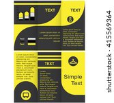 corporate business tri fold... | Shutterstock .eps vector #415569364