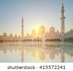 sheikh zayed grand mosque at... | Shutterstock . vector #415572241
