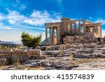 Erechtheum Temple Ruins On The...