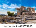 Erechtheum Temple Ruins On The...