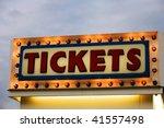 ticket booth sign illuminated... | Shutterstock . vector #41557498