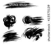 vector set of grunge brush... | Shutterstock .eps vector #415575139
