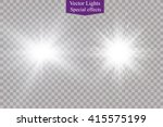glow light effect. star burst... | Shutterstock .eps vector #415575199