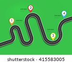 road way location infographic... | Shutterstock .eps vector #415583005