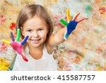 child. | Shutterstock . vector #415587757