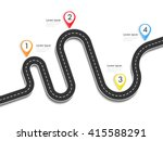 road way location infographic... | Shutterstock .eps vector #415588291