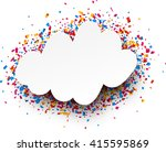 white festive background with... | Shutterstock .eps vector #415595869