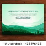 mountaineering and traveling... | Shutterstock .eps vector #415596415