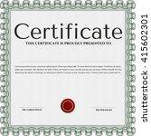 green diploma or certificate... | Shutterstock .eps vector #415602301