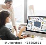 briefcase icon business... | Shutterstock . vector #415602511
