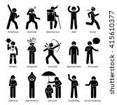 positive good personalities... | Shutterstock .eps vector #415610377