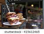 sandwich in borough market...   Shutterstock . vector #415612465