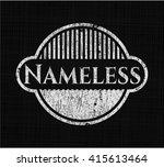 nameless chalkboard emblem on...   Shutterstock .eps vector #415613464