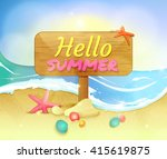 summer holidays illustration.... | Shutterstock .eps vector #415619875