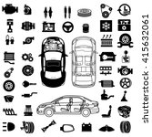 car repair engine vector | Shutterstock .eps vector #415632061