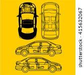 car repair engine vector | Shutterstock .eps vector #415632067
