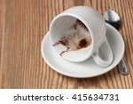 drunk cup of strong coffee with ... | Shutterstock . vector #415634731