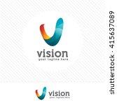 business corporate letter v... | Shutterstock .eps vector #415637089