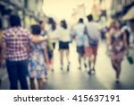 abstract of blurred people on... | Shutterstock . vector #415637191