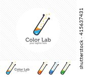 abstract color lab logo .... | Shutterstock .eps vector #415637431