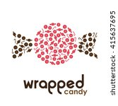 red wrapped candy made by... | Shutterstock .eps vector #415637695