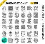 education   learning pixel... | Shutterstock .eps vector #415641589