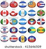 set of icons. north and central ... | Shutterstock .eps vector #415646509