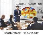 global warming pollution... | Shutterstock . vector #415646539