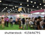 blur people in a exhibition... | Shutterstock . vector #415646791