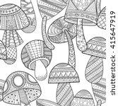 black  white seamless pattern... | Shutterstock .eps vector #415647919