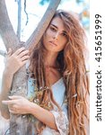 Attractive Bohemian Style Woman