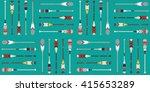 canoe paddle pattern   Shutterstock .eps vector #415653289