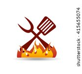 delicious bbq  design  | Shutterstock .eps vector #415655074