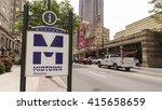 atlanta midtown with fox... | Shutterstock . vector #415658659