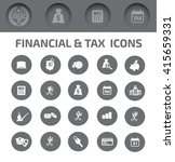 finance tax icons vector | Shutterstock .eps vector #415659331